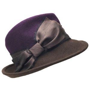 NWT Albertus Swanepoel woman's hat purple brown
